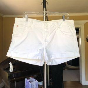 Hudson Hampton cuffed shorts Size 32 white